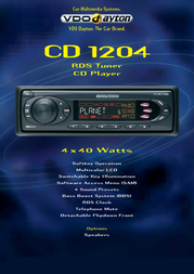 Dayton CD 1204. CD Player / RDS Tuner CD1204 Leaflet