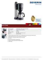 Severin KA 5740 KA5740 Leaflet