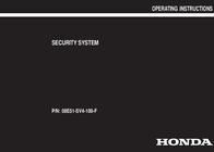 Honda 08E51-SV4-100-F User Manual