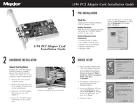 Maxtor 1394 PCI Adapter Card Leaflet