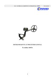 Garrett Metallsuchgerät AT Pro International Metal Detector 99630 AT Pro International 99630 Data Sheet