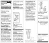 Eltako Multiway switch (analog) 1-pin 16 A 1 maker 8 V DC/AC, 12 V DC/AC, 24 V DC/AC, 110 V DC/AC, 230 V DC/AC 2310083 23100832 Data Sheet