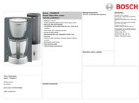 Bosch TKA6001V Leaflet