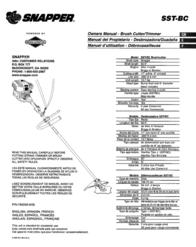Snapper SST-BC User Manual