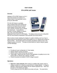 Addlogix Network Testing Device CTK-LNTRK User Manual