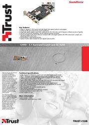 Trust 5.1 Surround Sound Card SC-5250 12950 Leaflet