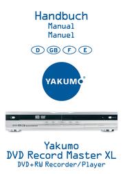 Ritek Yakumo DVD Record MasterXL DVD+RW Recorder/Player User Manual