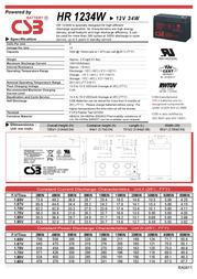 CSB HR1234W Leaflet