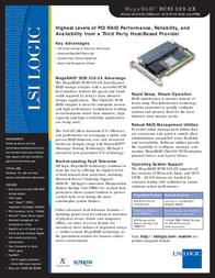 LSI MegaRAID SCSI 320-2X MRSCSI320-2X Leaflet