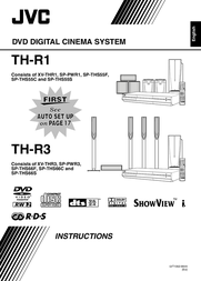JVC TH-R3: DVD Recordable Digital Cinema System TH-R3 User Manual