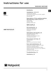 Hotpoint WML 560 P WML560P User Manual