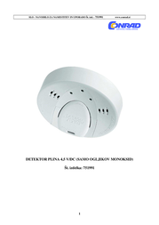 Flammex Gas detector 003255 battery-powered detects Carbon monoxide 003255 User Manual