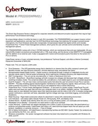CyberPower PR2200SWRM2U Leaflet