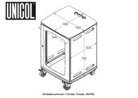 Unicol Lockable cabinet AVR5B Leaflet