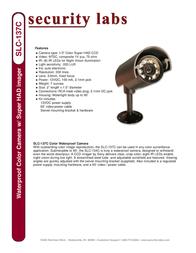 Security Labs SLC-137C Leaflet