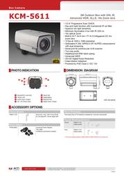 United Digital Technologies KCM-5611 Merkblatt