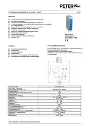 Peter Electronic SOFT START VERSISTART II 2S610.40009 Data Sheet