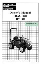 Honda H5518 Owner's Manual