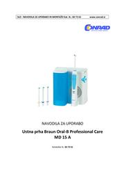 Oral-B Oral irrigator White, Light blue 850007 Data Sheet