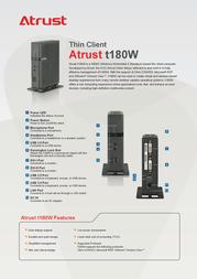 Atrust T180W T1800001-60 Leaflet