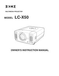 EIKI LC-X50 User Guide