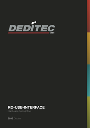 Deditec RO-USB MODUL 32 RELAIS OUT RO-USB-R32 Data Sheet