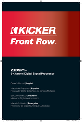 Kicker 2012 Front Row 6-Channel DSP (12ZXDSP1) Owner's Manual