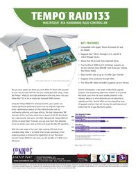 Sonnet Tempo Raid PCI UIDE133>IDE TAT-133R Leaflet