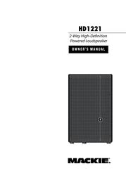 Mackie HD1221 User Manual