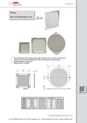 Sepa (W x H x D) 119 x 3.5 x 119 mm 931210400 Data Sheet