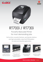 Godex RT700i GP-RT700I Leaflet