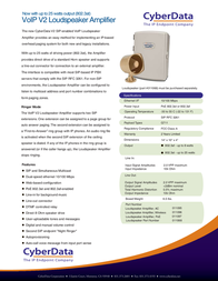 CyberData Systems 011097 User Manual
