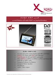 Xoro HMP 430 D XORHMP430D Leaflet