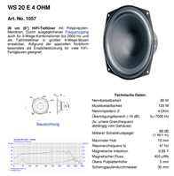 Visaton VS-WS20E/4 1057 Data Sheet