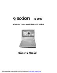 Axion 16-3903 User Manual