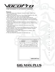 Vocopro GIG MAN PLUS User Manual