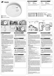 Flamingo Smoke detector FA23 battery-powered FA23 Leaflet