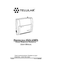 Telular Phonecell SX3i Amps Fixed Wireless Terminal SX3i User Manual