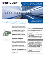 Emulex Single Channel 2Gb/s Fibre Channel PCI-X HBA LP-101-E Leaflet