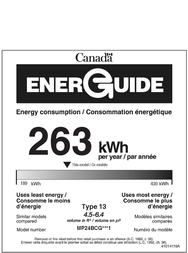 Marvel MP24BC Energy Guide