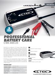 Ctek MXS 25 56-732 Leaflet