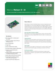 Matrox Meteor II PCI Z6020 User Manual