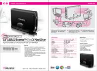 "Aluratek Hurricane 3.5"" USB 2.0 External Hard Drive 250GB AHDU350250 Leaflet"