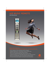 Gyration Air Music Remote / Compact Keyboard Kit GYR4101CKUS Leaflet