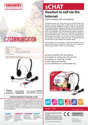 Eminent sCHAT Headset to call via the Internet EM1096 Leaflet