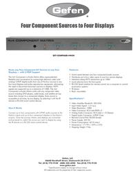 Gefen EXT-COMPAUD-44424 Leaflet