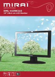 "Mirai 19"" LCD Monitor DML-419W210 Leaflet"