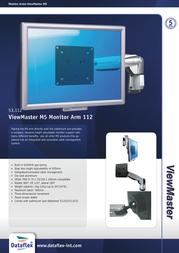 Dataflex ViewMaster M5 Monitor Arm 112 53.112 Data Sheet