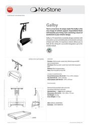 Norstone Galby NORGAL108AWTBKA Leaflet
