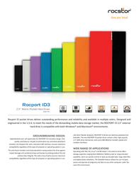 Rocstor Rocport ID 3 320 GB B343J5-CB Leaflet